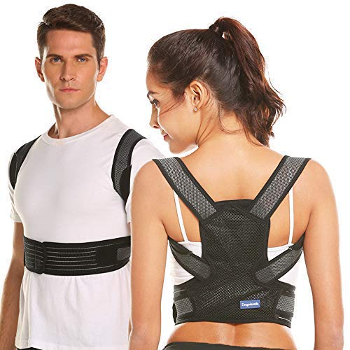 Posture Corrector for Men&Women Back Brace Designed Upper Back Support for Providing Pain Relief from Neck,Back, Waist and Bad Posture - Clavicle Support for Slouching (L)