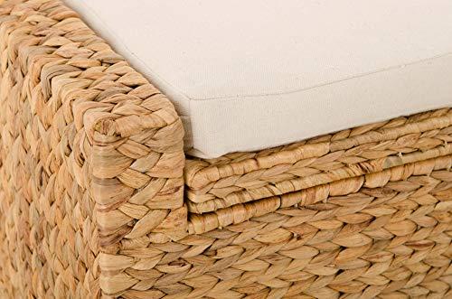 Vivanno Sitzhocker aus Wasserhyazinthe Mono Plus, 57 cm breit, Natur - 3