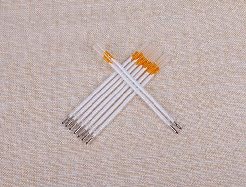 MoonyLI 20 recambios de rotuladores de tela rellenables para ropa, accesorios de sastre, herramientas de alta temperatura que desaparecen marcadores de tela para algodón, punto, gamuza y más