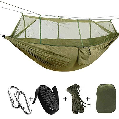 ZGYZ Camping Doppel Outdoor Moskitonetz Hängematte Zeltstuhl Nylon Hängebett Schaukel Strandkorb Barbecue Travel Tragbare Hängematte, Camping (B)