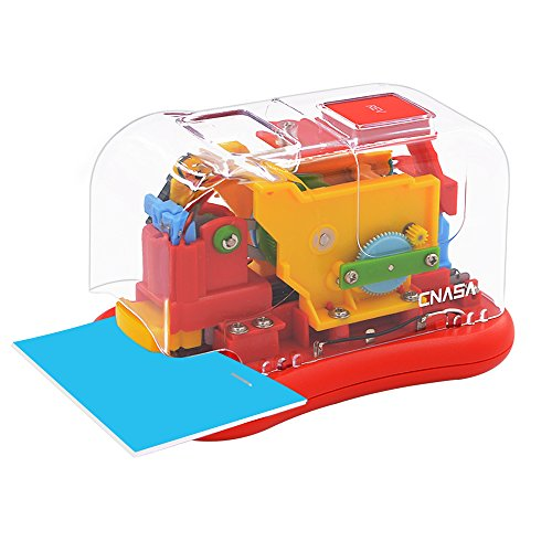 Electric Stapler-CNASA Automatic Stapler for Professional and Home Office Use, 12 to 14 Sheets, AC or Battery Powered, Colorful