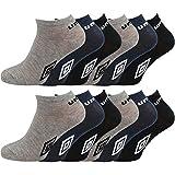 12paresde calcetinestobilleros deportivos para hombre producto oficial de Umbro - Tallas 39 - 46 multicolor mixto