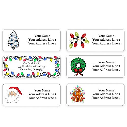 Holiday Winter Personalized Return Address Labels for The Christmas Season - Christmas Card Address Labels - Made in The U.S.A. (240 Labels)