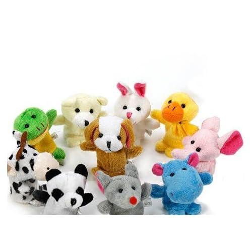 LAAT Poupée à Doigt Mignon en Animal pour Bébé Enfant Jouets éducatifs 10 Pieces