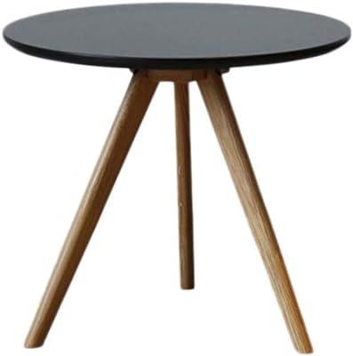 LF- Coffee Table, Living Room Sofa Bedroom Small Round Table Creative Modern Minimalist Style Furniture Balcony Triangular Leg Three Colors Chic (Color : Black, Size : 40cm)