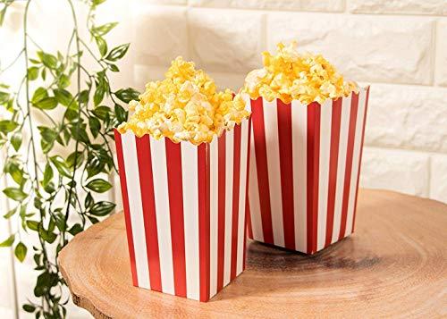 PALMFOX 60pcs scatole di Popcorn Favore, scatole di Popcorn di Carta a Strisce Piccoli Snack Candy contenitori per la Decorazione di Compleanno Festa di Compleanno del Capretto