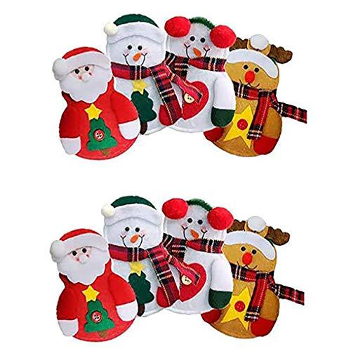 Los titulares 8PCS Cubiertos de Navidad del Partido de Navidad Pockets Cubierta Cubiertos Inicio Mesa de la Cena Cortadores Forks Bolsas