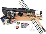 Maximumcatch Premier Fliegenrute und Avid Rolle Combo komplete 9' Fliegenfischen Outfit mit Angelausrüstung (7 wt -9' Half-Handgriff Rute 7/8 Fliegenrolle)