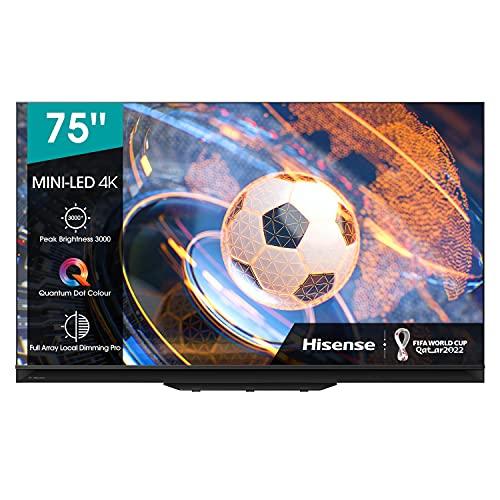 Hisense 75U9GQ Mini LED 190,5 cm (75 Zoll) Fernseher (4K Mini LED ULED, HDR Smart TV, HDR 10+, Dolby Vision IQ & Atmos, Full Array Local Dimming Pro, IMAX Enhanced, WCG, USB-Recording) 2021