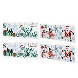 Etiqueta engomada de la Pared, con decoración de PVC Ventana de Navidad Clings para Fiesta de Vacaciones de Navidad