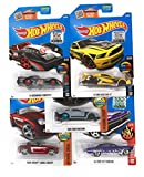 Hot Wheels Muscle Car Madness 5 Pack Random Diecast Bundle Set with Various
