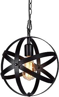 Żyrandol w stylu industrialnym ze sznurkiem, idealny w stylu vintage, wtarty olej, czarna kula Swag, lampa wisząca do deko...