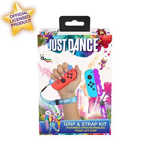 Just Dance 2019 Tiradores ergonómicos Pack de carcasas con correas ajusstables para Joycons Nintendo Switch