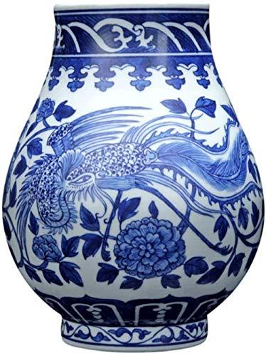 Vases Deko Jingdezhen Antik Handbemalt Drachen Dekoration Blume Traditionell Chinesisch Blau Weiß Porzellan Keramik