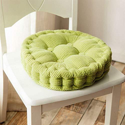 Coussin mignon de couleur unie bureau lombaire tissu étudiant chaise d'ordinateur coussin en bois massif canapé coussin (Couleur : Green, taille : 43x43CM)