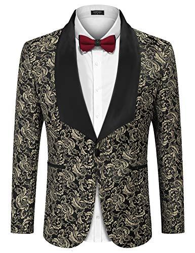 COOFANDY Mens Casual Slim Fit Blazer 3 Button Suit Sport Coat Lightweight Jacket (X-Large, Type 1 Gray)