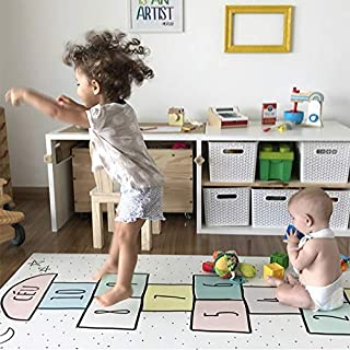 Q Baby Play Mat, Children's Hopscotch Play Mat Baby, Playroom Floor Mat Play Mat For Baby for Bedroom Living Room Games Ro...