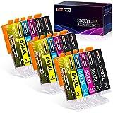 zambrero 550 551 cartucce d'inchiostro sostituzione per canon pgi-550 cli-551compatibile per canon pixma ip7250 ip8750 mg5650 mx925 ix6850 mx725 mg5550 mg6350 mg6450 mx920 (5 colori, 15 pezzi)