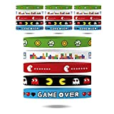 Gatherfun Video Game Wristband Game on Silicone Bracelets for Video Game Party Gamer Birthday Party Baby Shower Supplies Decorations for Kids and Adults Favors 20Pack, 5 Colors