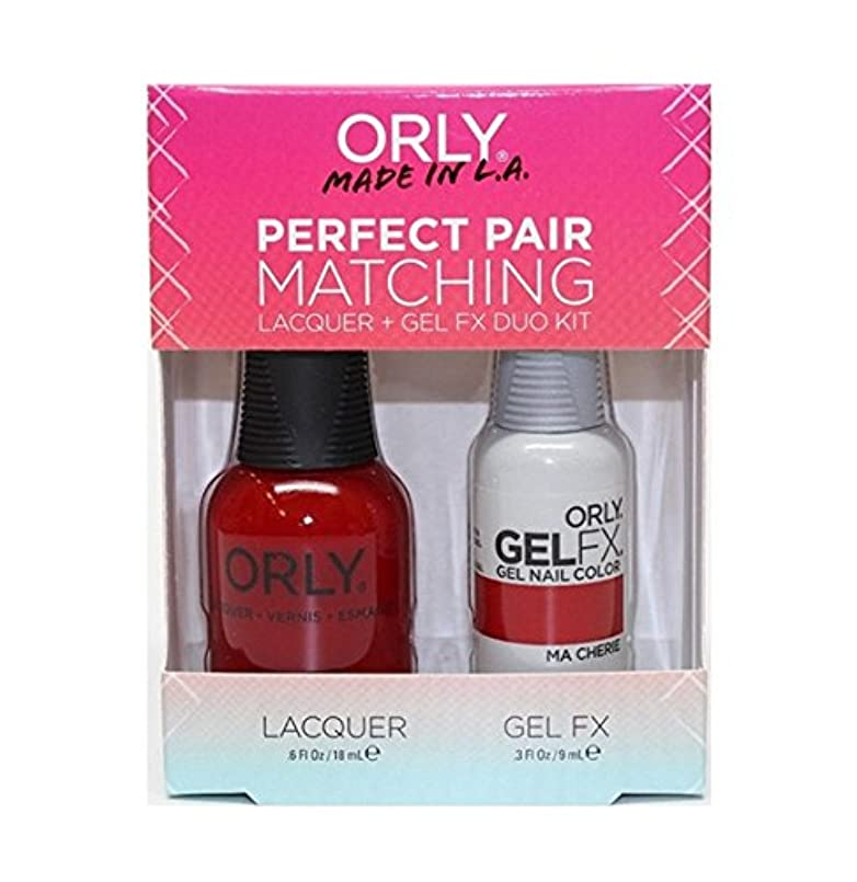 十分に難民音楽家Orly - Perfect Pair Matching Lacquer+Gel FX Kit - Ma Cherie - 0.6 oz / 0.3 oz