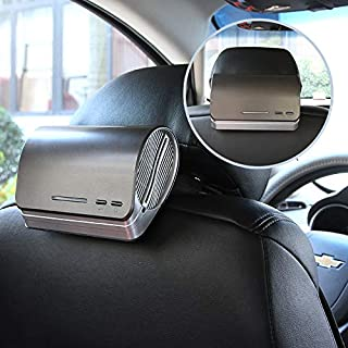 Car Air Purifier Ionizer Car Air Freshener with HEPA Filter Odor Eliminators Absorber, Activated Carbon Charcoal Prefilter and Aromatherapy Essential Oil Diffuser 12v Pollen Dust Smell Smoke Remover