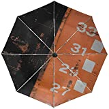 Parapluie Automatique Étiquettes Bande de métal Voyage Pratique Coupe-Vent Imperméable Pliage Auto Ouverture Fermer