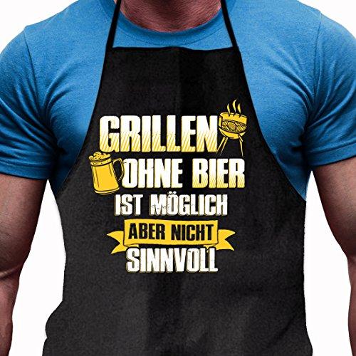 Shirtoo Grillschürze Grillen ohne Bier ist möglich, Aber Nicht sinnvoll – Lustiges Geschenk für echte Männer und Grill-Fans