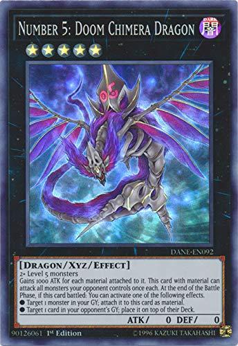Yu-Gi-Oh! - Number 5: Doom Chimera Dragon - DANE-EN092 - Super Rare - 1st Edition - Dark Neostorm