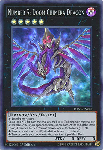 Yu-Gi-Oh! - Number 5: Doom Chimera Dragon - DANE-EN092 - Super Rare - 1st Edition - Dark Neostorm