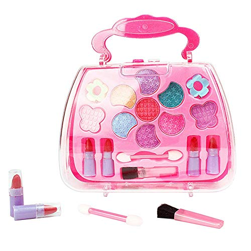 Fousamax Mädchen-Make-up-Kit, Prinzessinnen-Rollenspiel-Kosmetik-Set