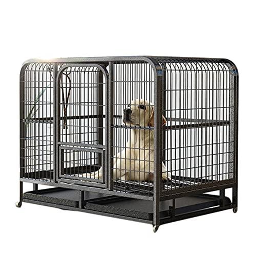 Jaulas Perros De Tamaño Mediano Caja De Entrenamiento para Cachorros Plegable Grande De Interior Mascotas con Cerradura De Puerta Doble Y Ruedas Bloqueables