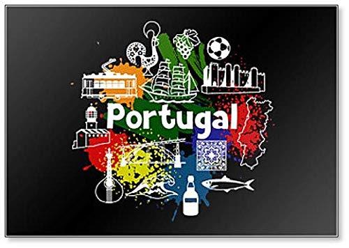 Imán para nevera con diseño de símbolos y objetos tradicionales portugueses