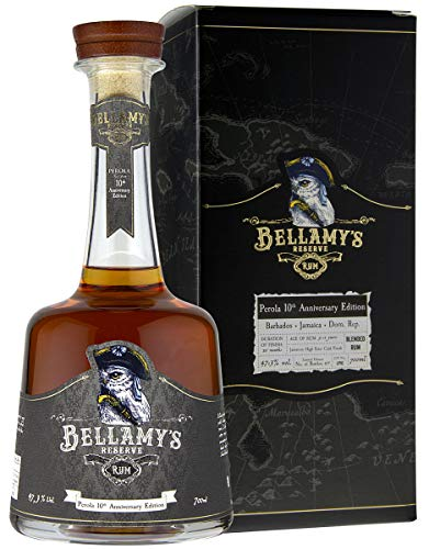Bellamy\'s Reserve Rum High Ester Cask Finish Perola 10th Anniversary Edition mit Geschenkverpackung Blended Rum 5-12 Years (Barbados, Jamaica, DomRep) (1x700ml)