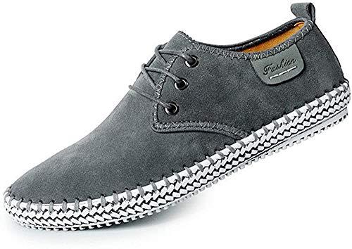 CUSTOME Hombres Ante Cuero Zapatos Cordones Sneaker