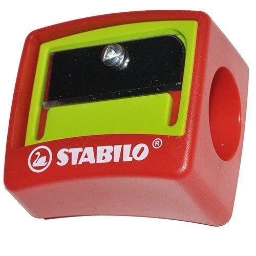 Stabilo Woody 3-in-1 Anspitzer für Kindersicherheit, Jumbo, Einzelloch-Stift Anspitzer