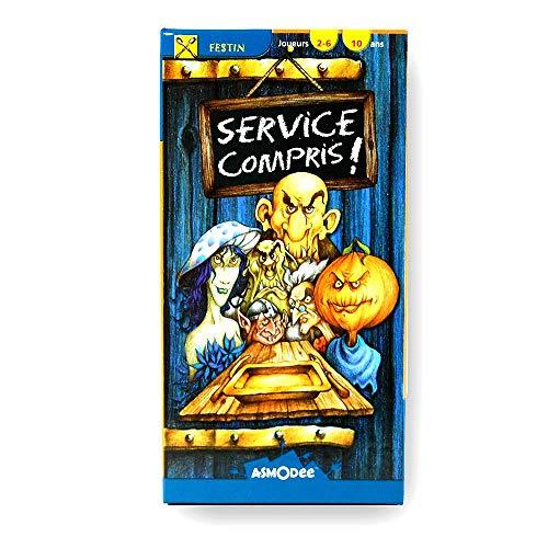 Asmodee–CM01N–Service Compris, Kartenspiel (französische Version)