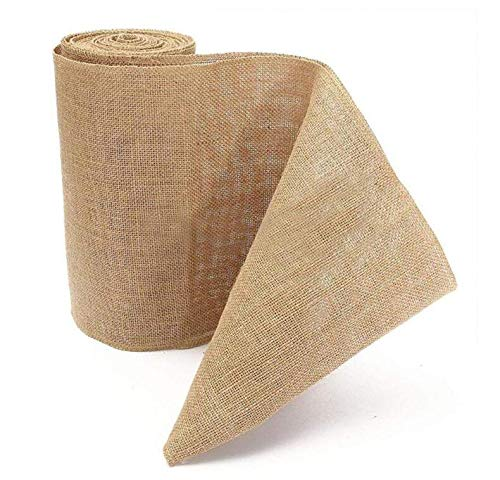 Time to Sparkle TtS 10Mx30cm Rouleau Jute Chemin de Table Ruban Vintage Rustique Sewed Edge Artisanat Jardinage Mariage