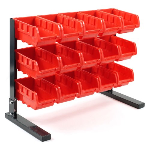 Stalwart 75-5186 Bench Top Parts Rack, 15 Piece