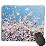 マウスパッド オフィス 最適 桜 花見 咲く 散る 風 写真 ゲーミング 光学式マウス対応 防水性 耐久性 滑り止め 多機能 標準サイズ25cm×30cm