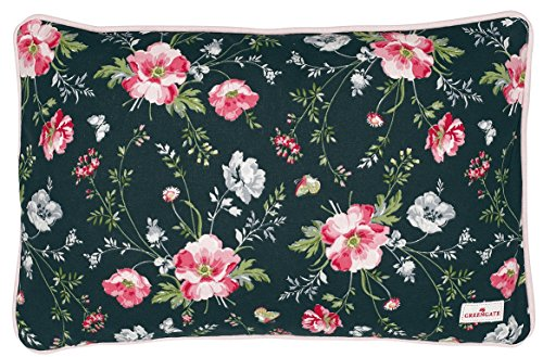 Greengate COTCUS35MEA9902 Meadow Kissen schwarz 30 x 50 cm