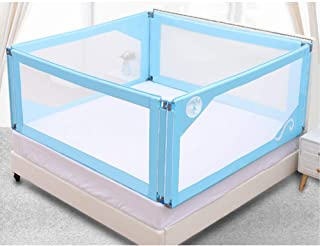 Bed Rail Four-Sided Bed Fence Baby Shatter-Resistant Fence Bed Guardrail Children's Fence Bed Lift (Color : Blue, Size : 150cm190cm)