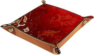 Boîte de rangement pliable en cuir PU pour table carrée de jeu de table de jeu de clé porte-monnaie porte-pièces de monnai...