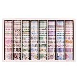 Lychii 120 PCS Washi Tape, Tape Decorativo Coprente per lavoretti di Fai da Te, diari, Biglietti, Schizzi...