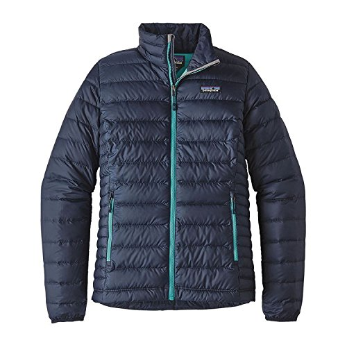 Patagonia Women's Down Sweater Jacket (M, Navy Blue/Strait Blue)