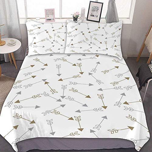 Juego de funda nórdica 622 de tamaño individual, estampado floral DITSY FLORAL, 3 piezas decorativas, con 2 fundas de almohada, sin sábanas, Microfibra, Juego de funda nórdica de 5, Doublé