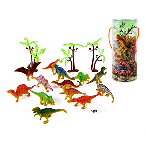 Mini Dinosaur Toy Set, 35 Pieces 3' Plastic Assorted Dinosaur Figures as Cake...