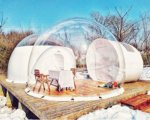 HIMA Monkey Burbuja Inflable Transparente al Aire Libre Tienda Bubble House Quedarse en Casa de Familia Patio Decorativo