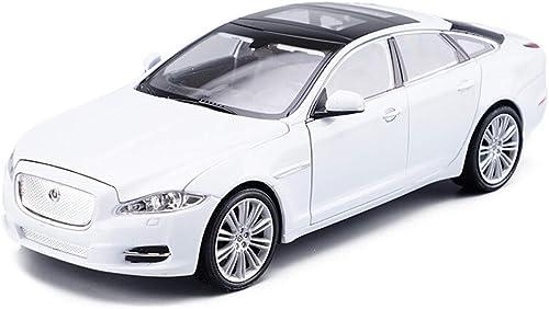 Hyzb Modèle de Voiture Voiture 1 24 Jaguar XJ SUV Tout-Terrain Simulation Alliage Moulage sous Pression Jouet OrneHommests Collection de Voitures de Sport Bijoux 19x7x5 CM (Couleur   blanc)