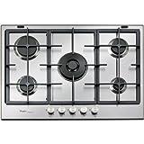 Whirlpool Europe Ambient - Placa de cocina de metal, color plateado