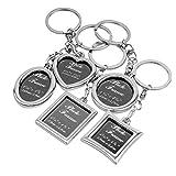 BESTOYARD 5pcs Bilderrahmen Keychain Set Mini Bilderrahmen Schlüsselanhänger Ornament personalisierte Foto Frame Schlüsselbund für Valentinstag Jubiläum Memorial Geschenk